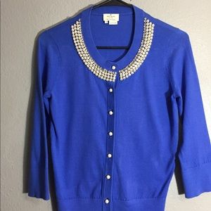 Kate spade blue sweater cardigan